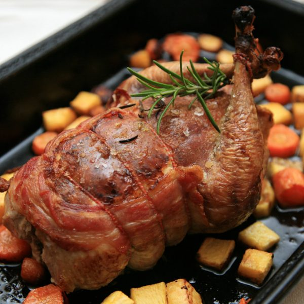 Pheasant stuffed with Sausage