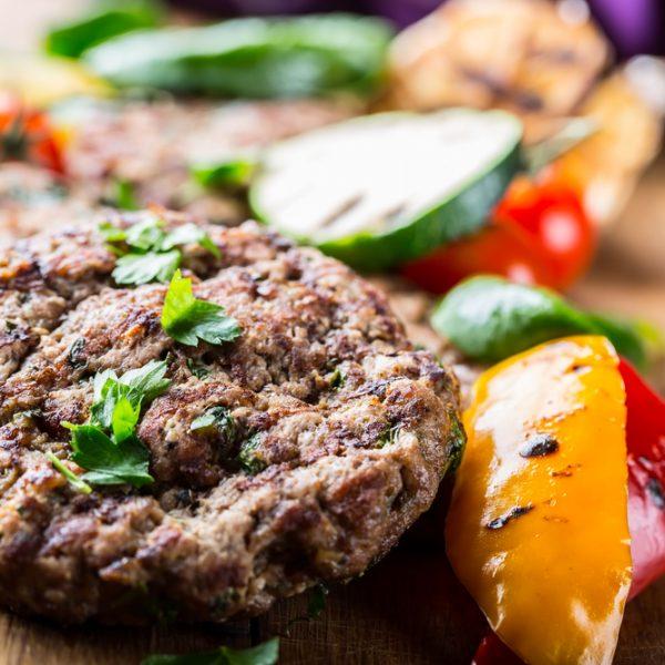 Veal Mediterranean Burgers